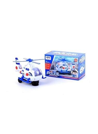 Happy Toys Pilli Işıklı Sesli Çarp Dön Hareketli Oyuncak Polis Helikopteri Renkli